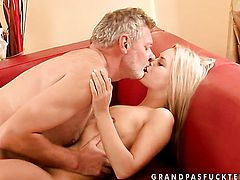 Blonde is on fire in sex action with hard dicked fuck buddy