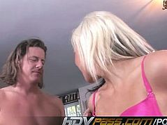 HDVPass Striking hottie gets plugged and creamed!