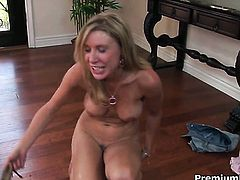 Allison Pierce fucks the jizz out of dudes meat pole