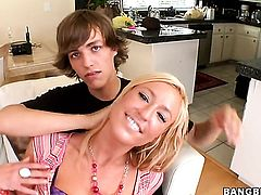 Blonde Victoria White and Ally Kay get satisfaction in steamy girl-on-girl action