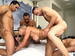 Perfect shemale gangbang with Rafaella Ferrari