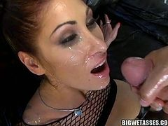 Classy fine ass chick Tiffany Mynx gets her ass fucked hard