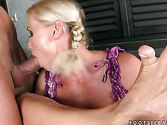 Hot bodied minx Kathia Nobili loves the way dude moves his meat stick up and down inside her twat