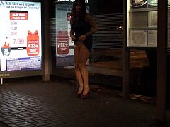 Jerking in Nylon at the Bus Station caught public