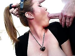 Kianna Dior gets mouth stuffed by Jonni Darkko for your viewing entertainment