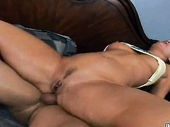 John Strong is one hard-dicked dude who loves oral sex with Blonde Flower Tucci with juicy booty and shaved pussy before anal sex