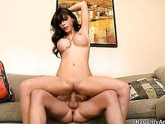 Kris Slater is horny and cant wait any more to slam Aleksa Nicole with big boobs and hairless bush with his sturdy ram rod