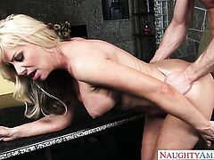 Sasha Sean spends her sexual energy with hard cocked dude Ryan Mclane