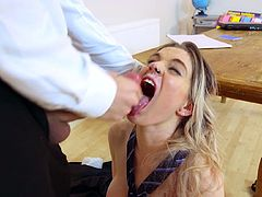 Visit official Brazzers Network's HomepageBlonde with amazing boobs seems needy to fuck her teacher and have his monster dick cracking her hairy cherry in exchange for better grades