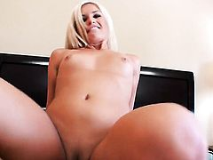 Kaycee Brooks shows her oral talents in blowjob action with hot fellow