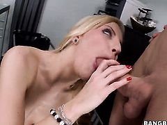 Huge ass babe swallows a load