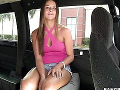 Rayna Lee is good on her way to make hard dicked dude explode on oral action