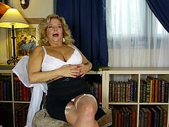 Karen Summer was fucking and sucking longer than a lot of us have been alive. She still has lust in her loins and a pretty decent body for her age. She shows us now, as she strips off her clothes, revealing her big boobs. She plays with them and rubs her nipples for the camera, so all can see.
