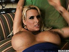 Blonde Holly Halston with phat bottom and her man are so fucking horny in interracial porn action