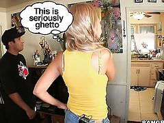 Blonde chica Bridgette B with round butt takes oral sex to the whole new level