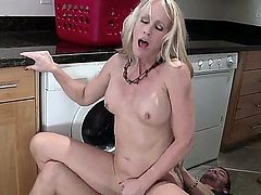 Simone Sonay is a busty milf that is tricked by her daughter to steal her BF as an Aprils fool prank. She does not prank, she steals him outright.