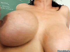 Chris Johnson gets turned on to the point of no return by Priya Anjali Rai with gigantic boobs and clean twat and then fucks her love box