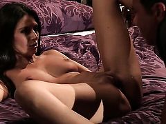 Nikki Daniels asks her man to stick his beefy worm in her mouth