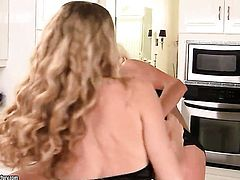 Blonde Anita Dark with massive boobs and Puma Swede are so fucking horny in this girl-on-girl action