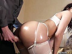Latin Samia Duarte finds butt sex painful loves it with Danny D so much