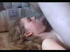 Blonde Escort Takes a Load From a Client