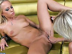 Blonde White Angel and Carla Cox fulfill their sexual needs and desires together in lesbian action