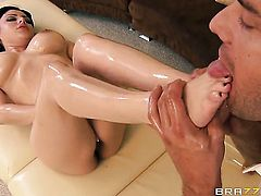 Amazingly hot hottie Sativa Rose with massive melons spends time doing it with hot bang buddy Ramon