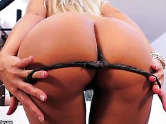Blonde Dido Angel gives herself some vagina stimulation with the help of her sex toy