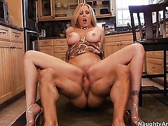 Julia Ann with round booty and trimmed snatch is addicted to fuck and Alan Stafford knows it