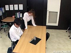 busty teacher is brought to the ground