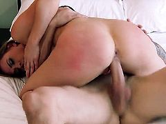 Tattoos Chanel Preston with gigantic knockers and shaved cunt and hard cocked guy enjoy oral sex