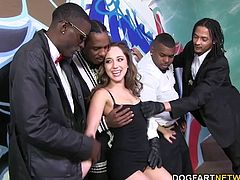 Remy brings that smokin' hot body to the wrong part of town ONLY because her taste bud demands that she shove as much black cock down her throat as possible.