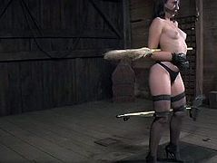 BDSM has always been her fantasy and now she is getting punished hard