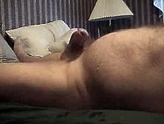 Hairy daddy spraying cum