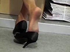 Candid Hostess Shoeplay Nylon Feet