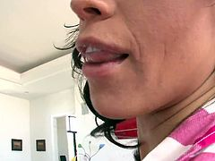 Halie James is lucky today because huge cock penetrates her sweet vagina