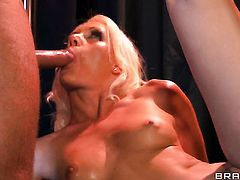 Keiran Lee uses his hard meat stick to bring blowjob addict Kacey Villainess to the height of pleasure