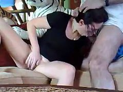 munching on her man's cock