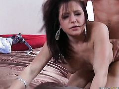 Lustful temptress Charity Bangs gets slam fucked by Johnny Castle the way she loves it
