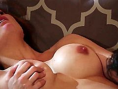Allison Moore has invited her date over to her house. It was love at 1st sight. Her huge tits are getting massaged and her ass is being kissed in this romantic video.