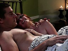 Penny Pax finds herself blowing mans sturdy worm
