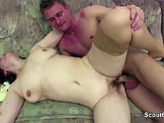 MILF stepmom Seduce Step-Son to Fuck her When dad Away