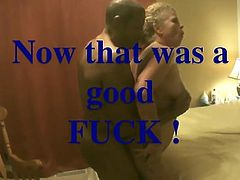 BBC makes her big saggy tits sway. She & hubby both love it!