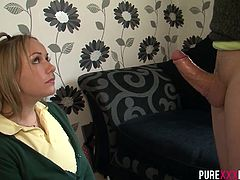 Her boyfriend found her in bed with her BF and he didn´t like to know that he wasn´t getting any action. Ashley sucks her boyfriend and rides her big ass on his hard cock.