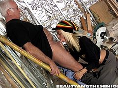 Jim is one helluva lucky grandpa. Sweet Tina succumbed to his charms and kneels down in front of him, only to take his cock in her perky fresh mouth. This blonde chick gave her everything to please this old man. Who doesn't love getting a blowjob from a cute babe?