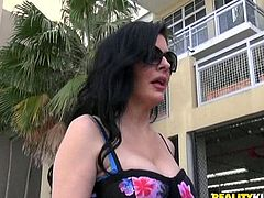 Sean is experienced in picking up hot milfs. This time, under a false pretext, he persuades Natalie, a hot brunette milf, to follow him to his apartment, while the lady's car is being fixed. Shyness fades away and the stunning bitch lets him touch her boobs. Click to see the naughty details!