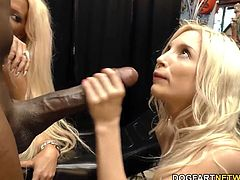 Petite blonde Piper Perri takes Mandingo's massive black dick in her tight pussy