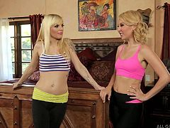 Jana and Aaliyah are out for a run. Although it is exhilarating, the run leaves the ladies sweaty and in need of a shower. As Aaliyah sits down, feeling the water from the huge shower cascading over her body, Jana moves in to give her a massage, bringing relief to her achy muscles and making her horny.