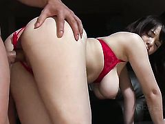 Busty asian MILF Koyomi Yukihira gets nailed