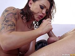 Eva is so kinky that she will go ass to mouth. After she is brutally pounded in her tight asshole by a big cock, she gets face fucked. After gobbling on dick, it's time for more assfucking. Her anus is absolutely destroyed.
